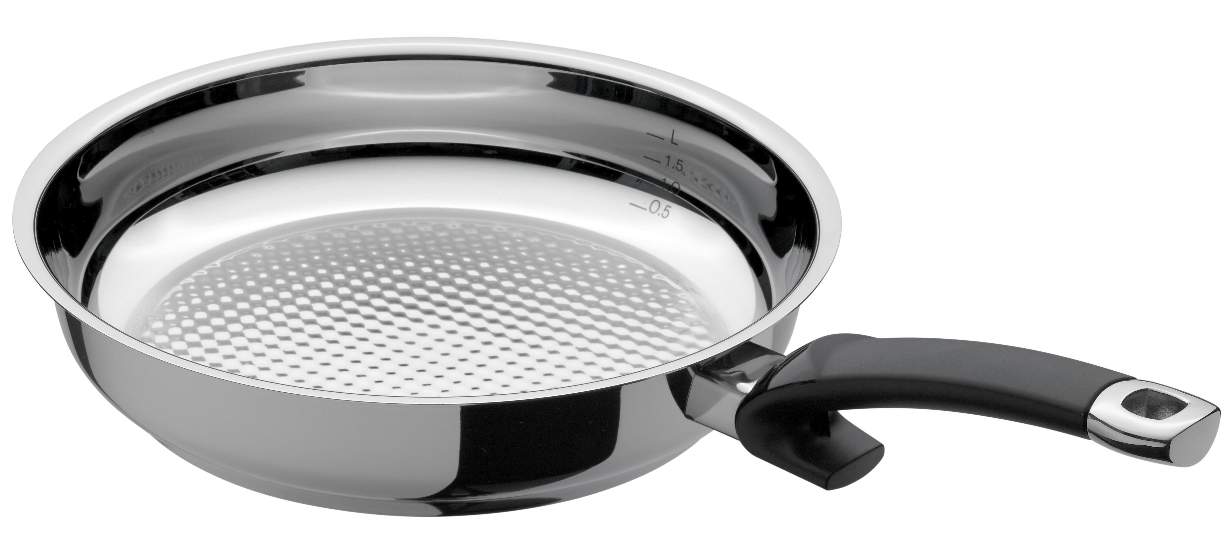 Fissler Crispy Steelux Comfort Stainless Steel Frypan, 11 Inch
