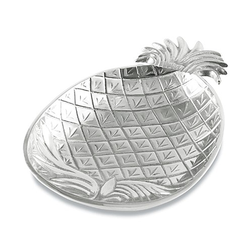 Aluminum Tropical Pineapple Serving Bowl