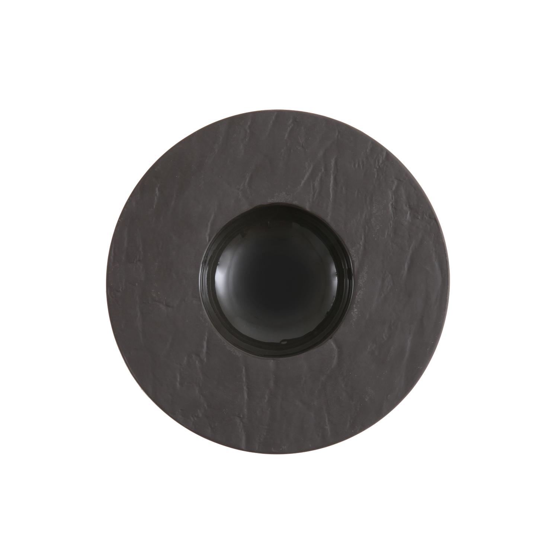 Fortessa Slayte Black 8 Inch Wide Rim Bowl