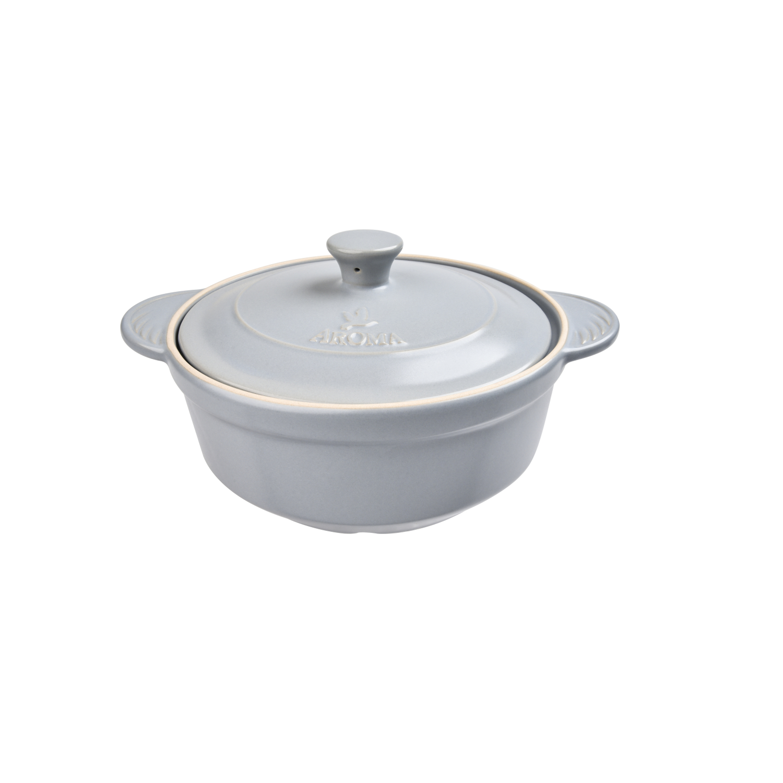 Aroma DoveWare Slate Gray 2.5 Quart Covered Stewpot