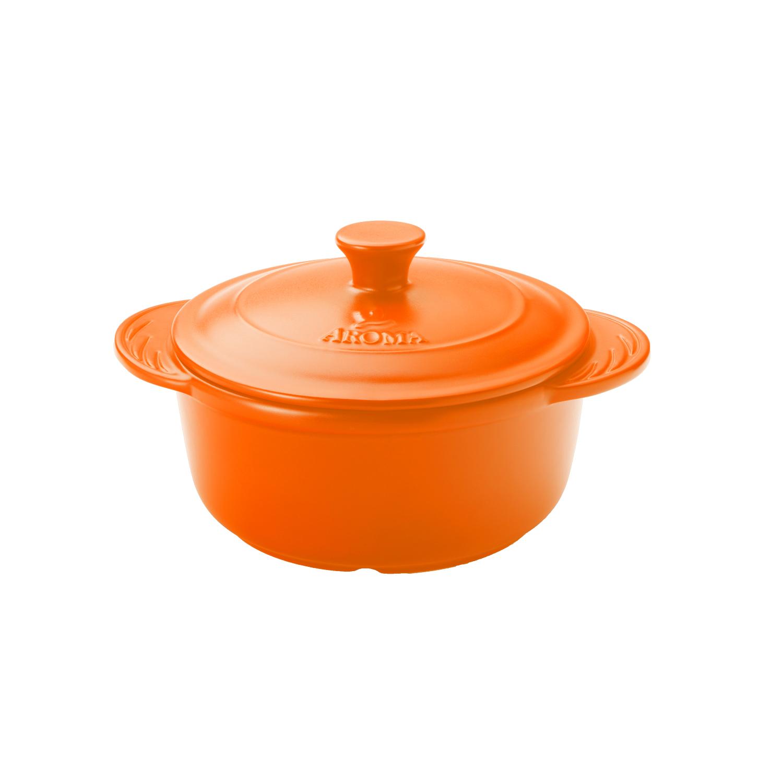Aroma DoveWare Orange 4 Quart Covered Dutch Oven