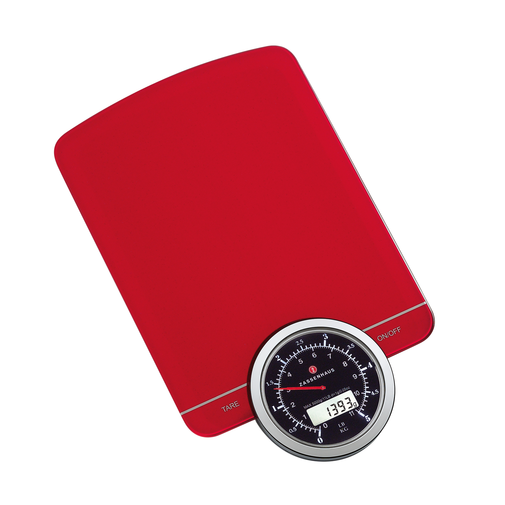 Zassenhaus Retro Kitchen Scale, Red
