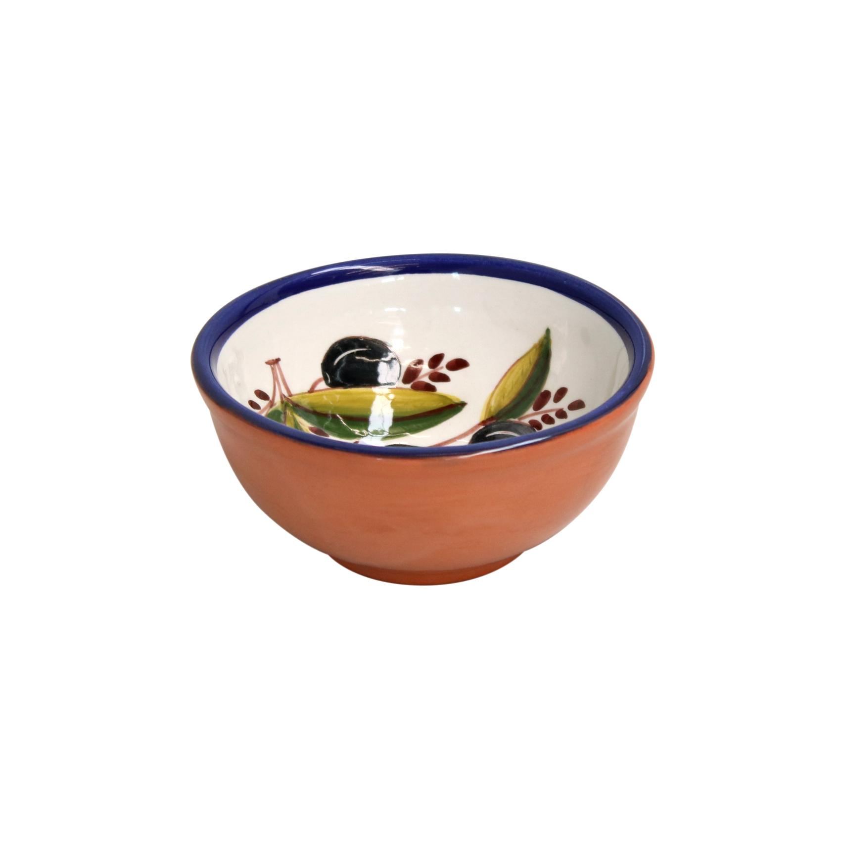 Casafina Alentejo Terracotta Giftware Olive Dip Bowl