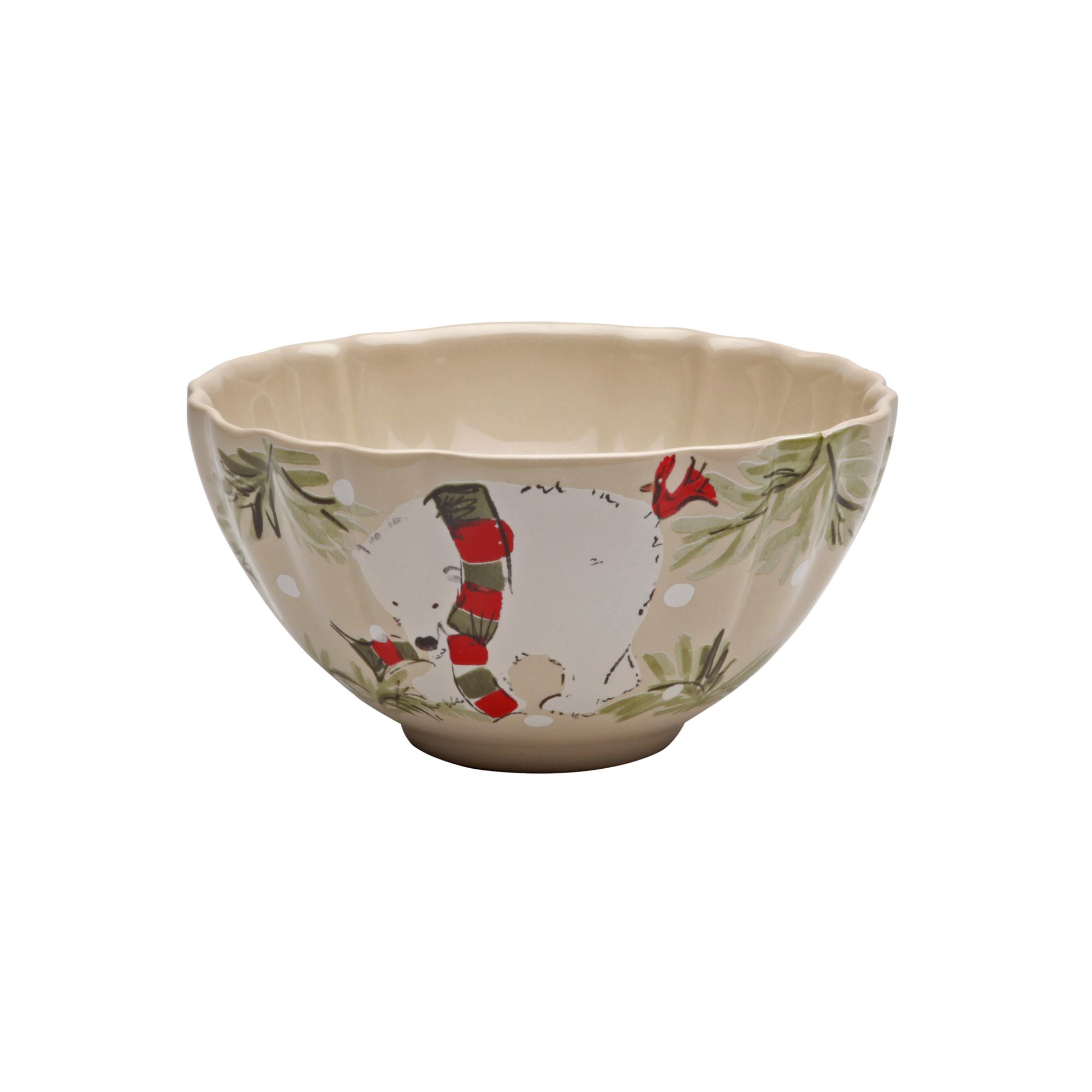 Casafina Deer Friends Stoneware Soup/Cereal Bowl, Set of 4