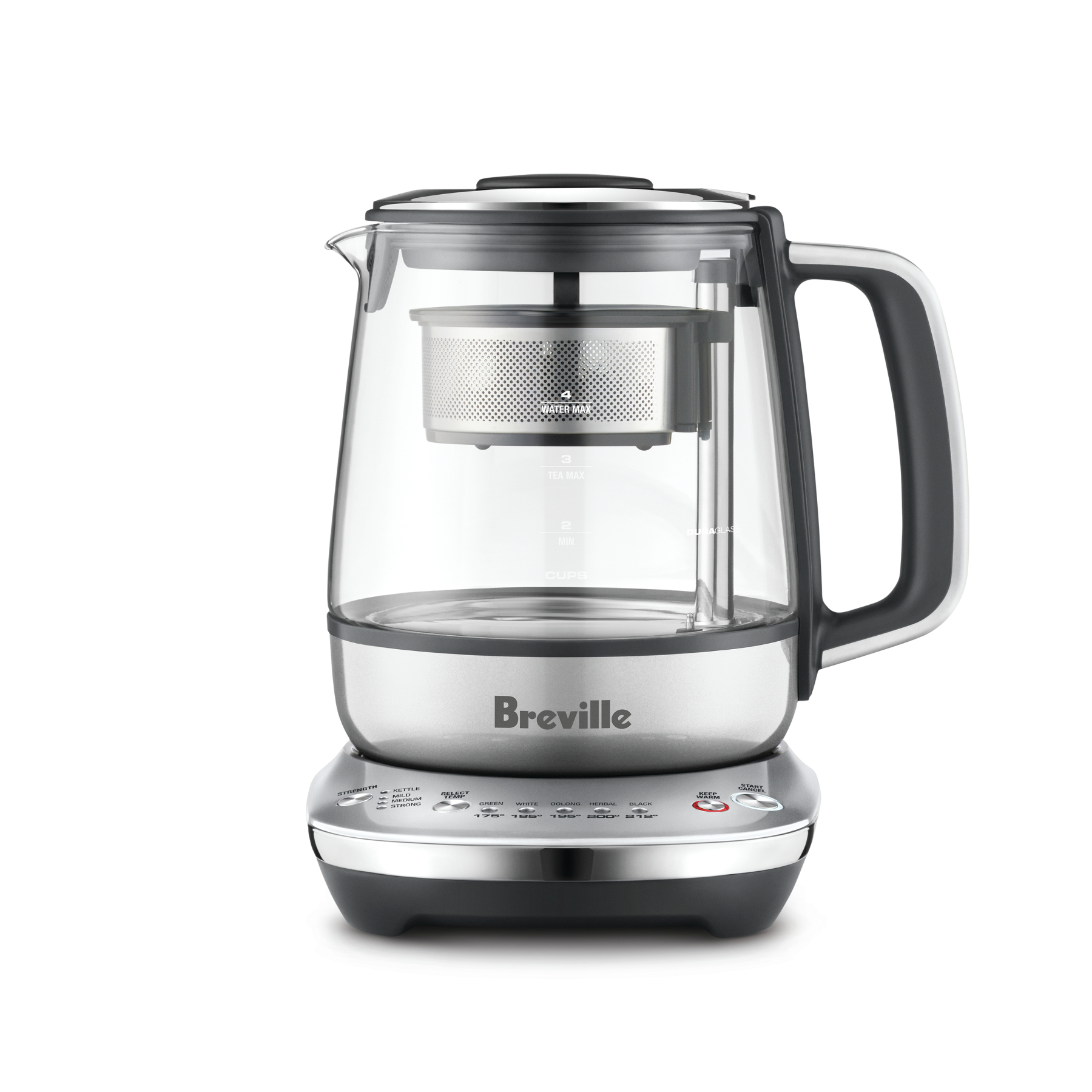 Breville Smoked Hickory One-Touch Compact 34 Ounce Tea Maker