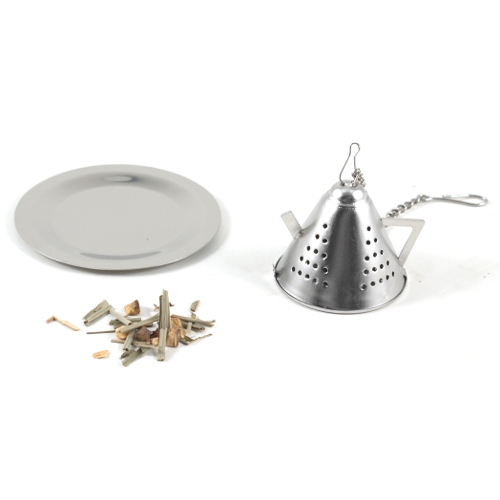 Tea Kettle Infuser with Caddy Stainless Steel pot