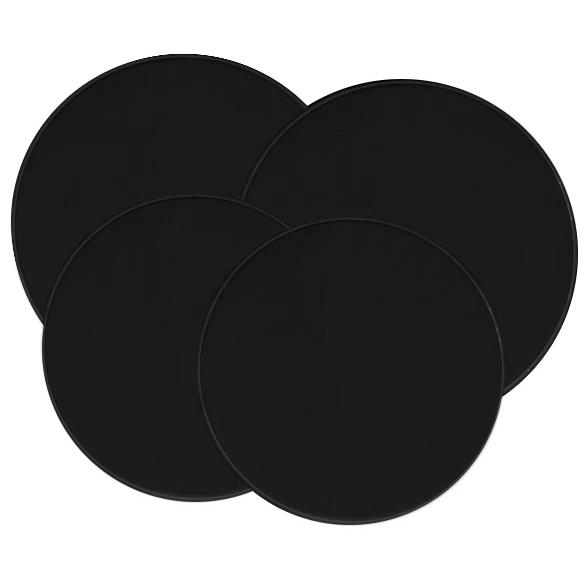 Range Kleen Solid Black Stove Top Burner Cover, Set of 4
