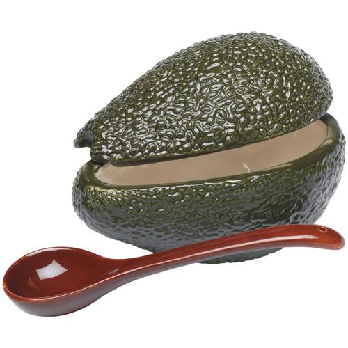 Progressive Green Avocado Ceramic Guacamole Bowl