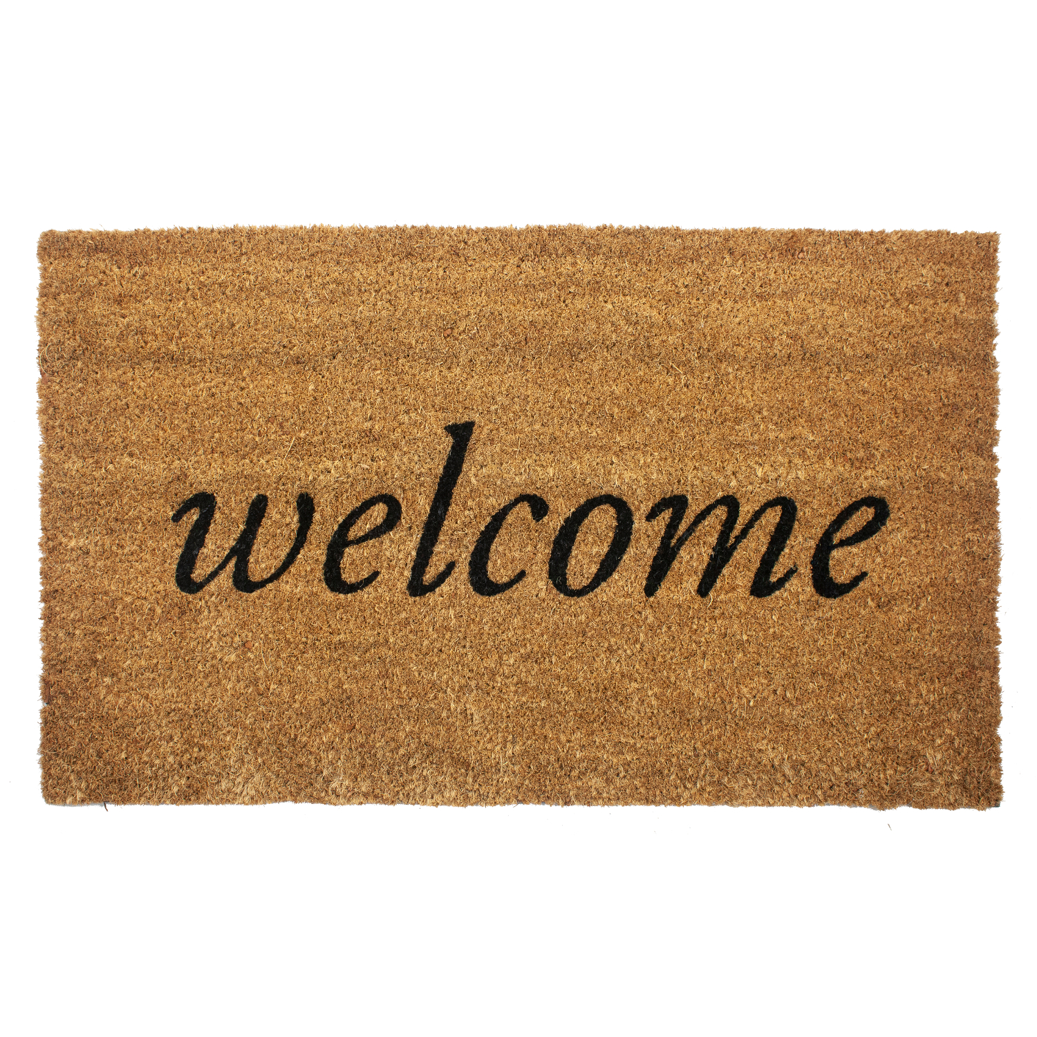 Entryways Welcome 18x30 Inch Coir Doormat with Backing
