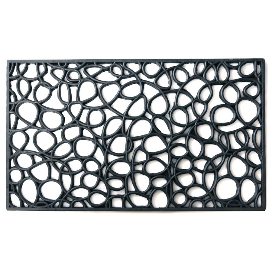 Contemporary Loop Pattern Recycled Rubber Doormat