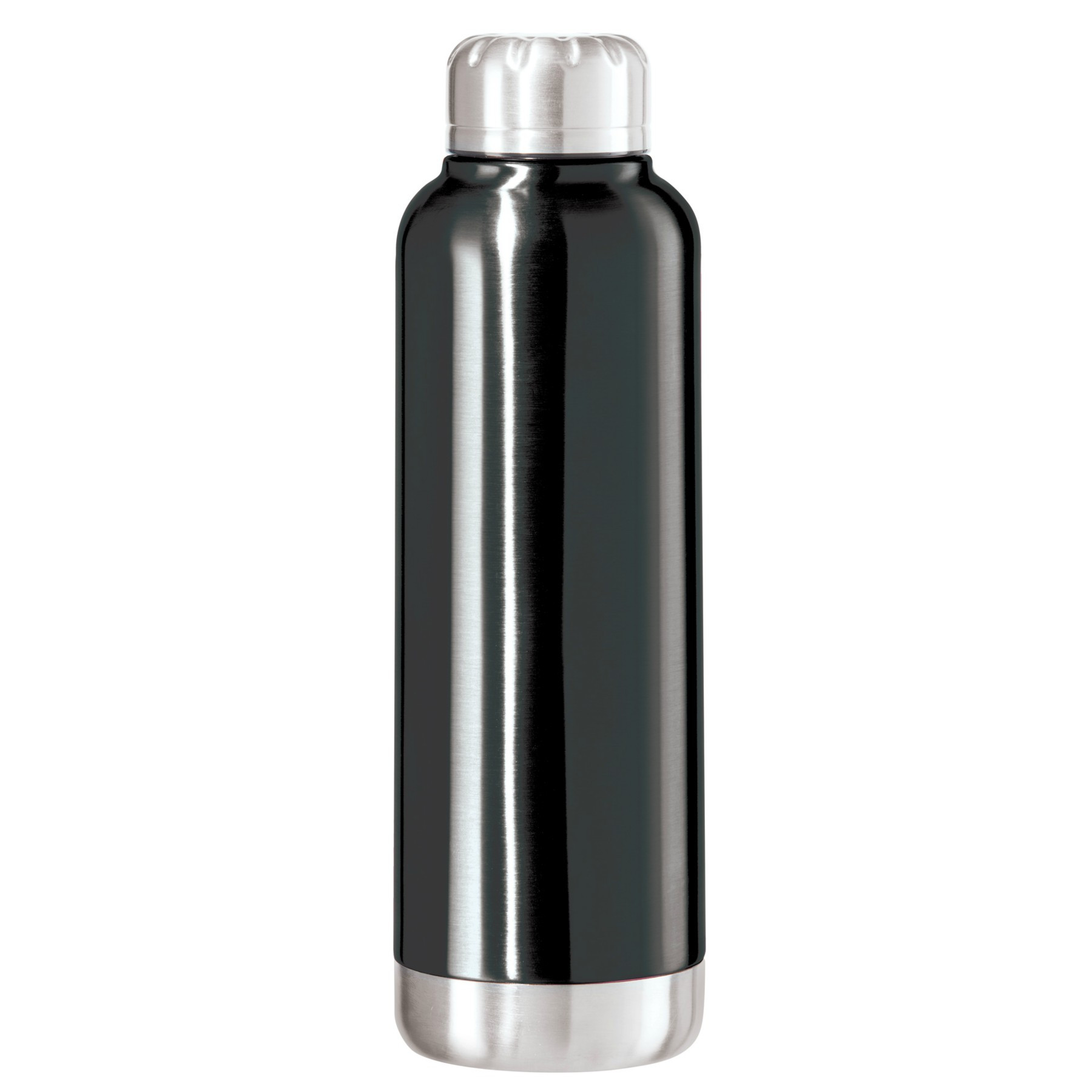 OGGI Fiesta Black Stainless Steel Double Wall 25 Ounce Sport Bottle