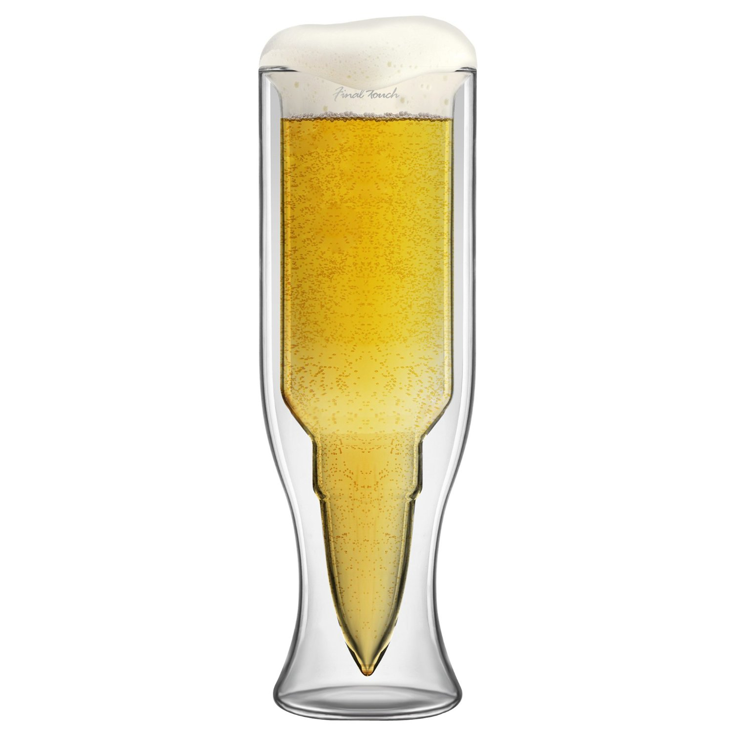 Final Touch Glass Bullet Beer Glass