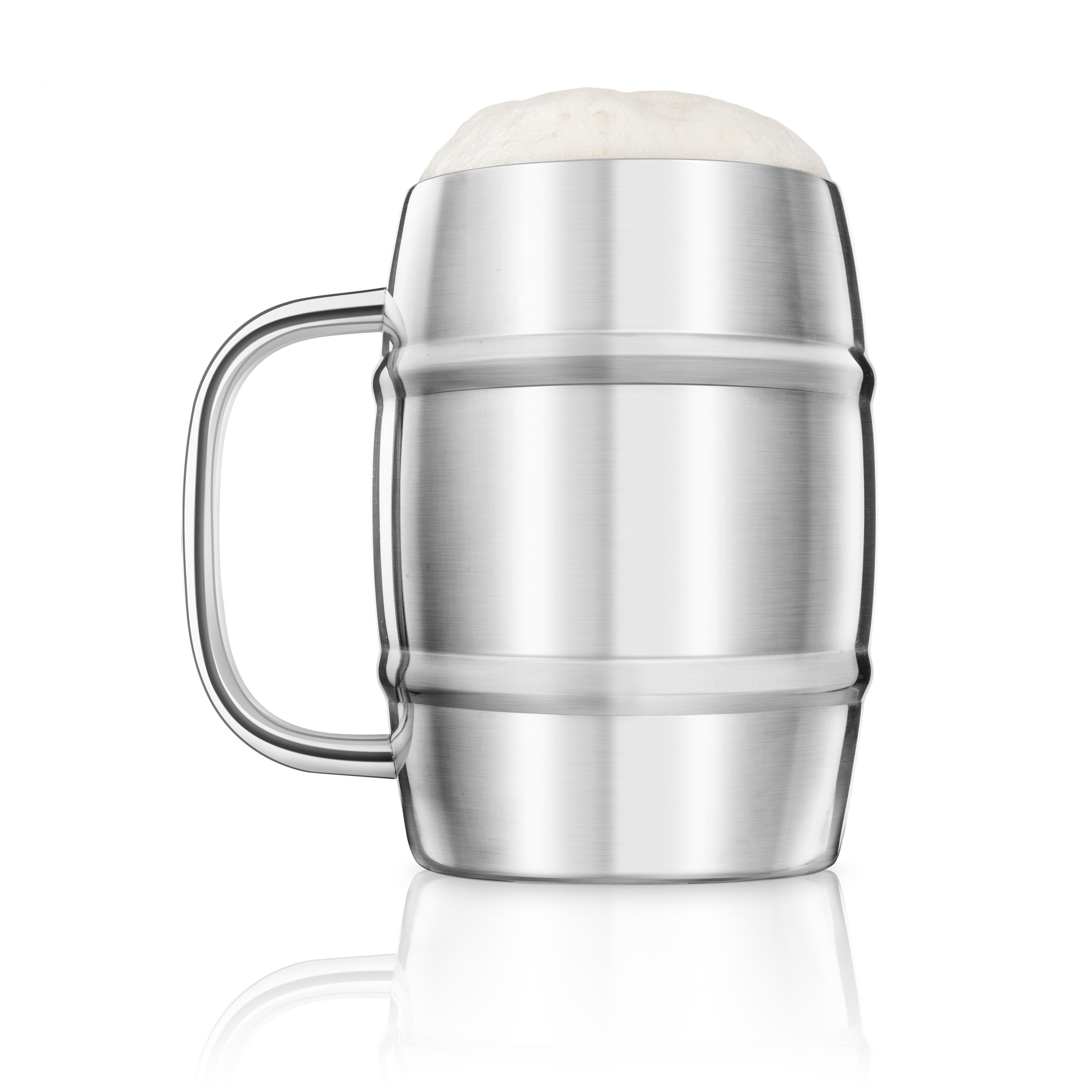 Final Touch Stainless Steel Double-Wall Beer Keg Mug