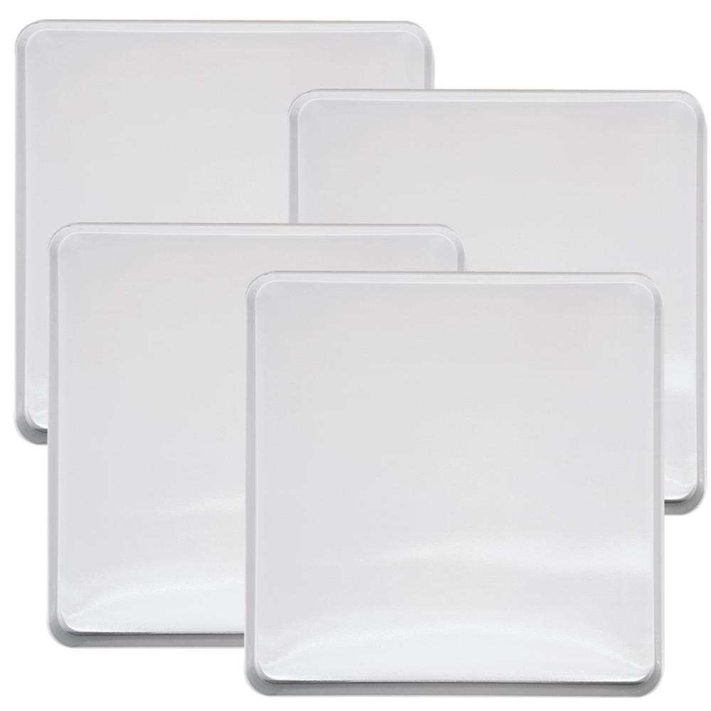 Range Kleen 4 Piece White Square Burner Kover Set
