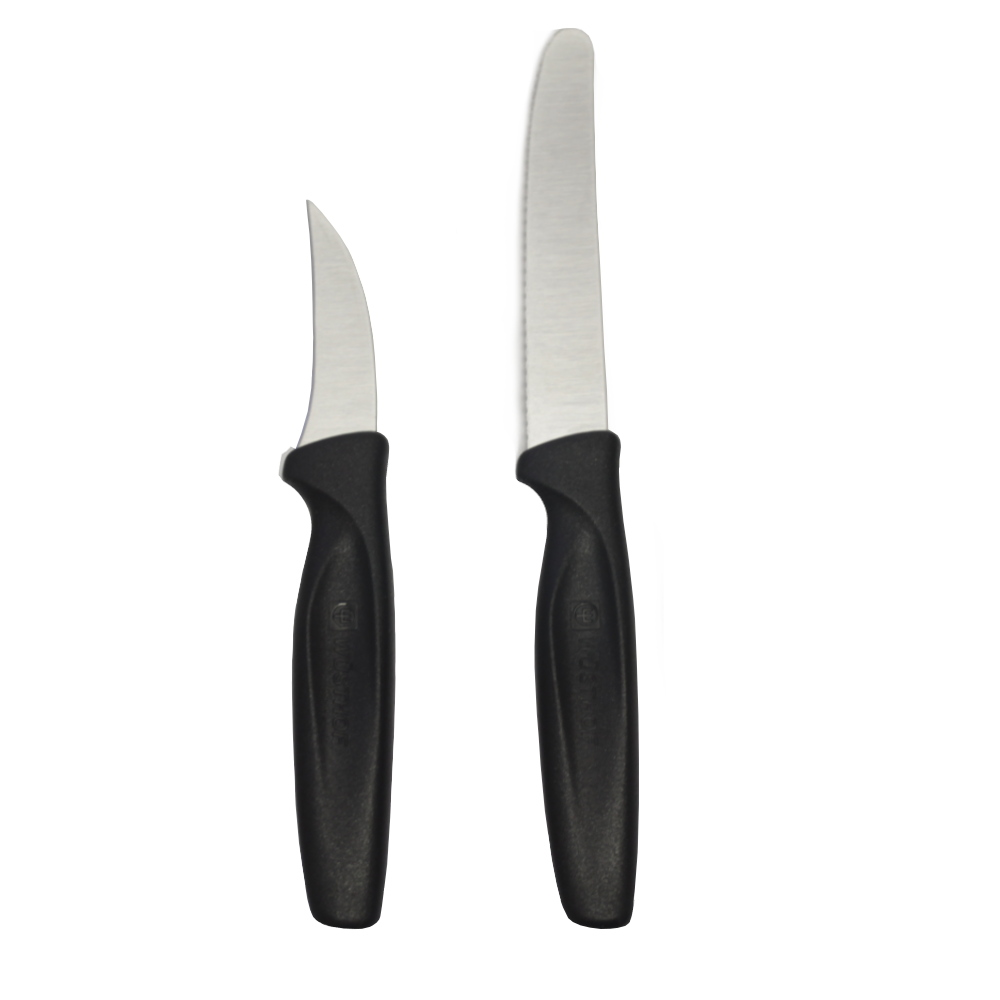 Wusthof Black Carbon Steel 2 Piece Peeling and Serrated Knife Set