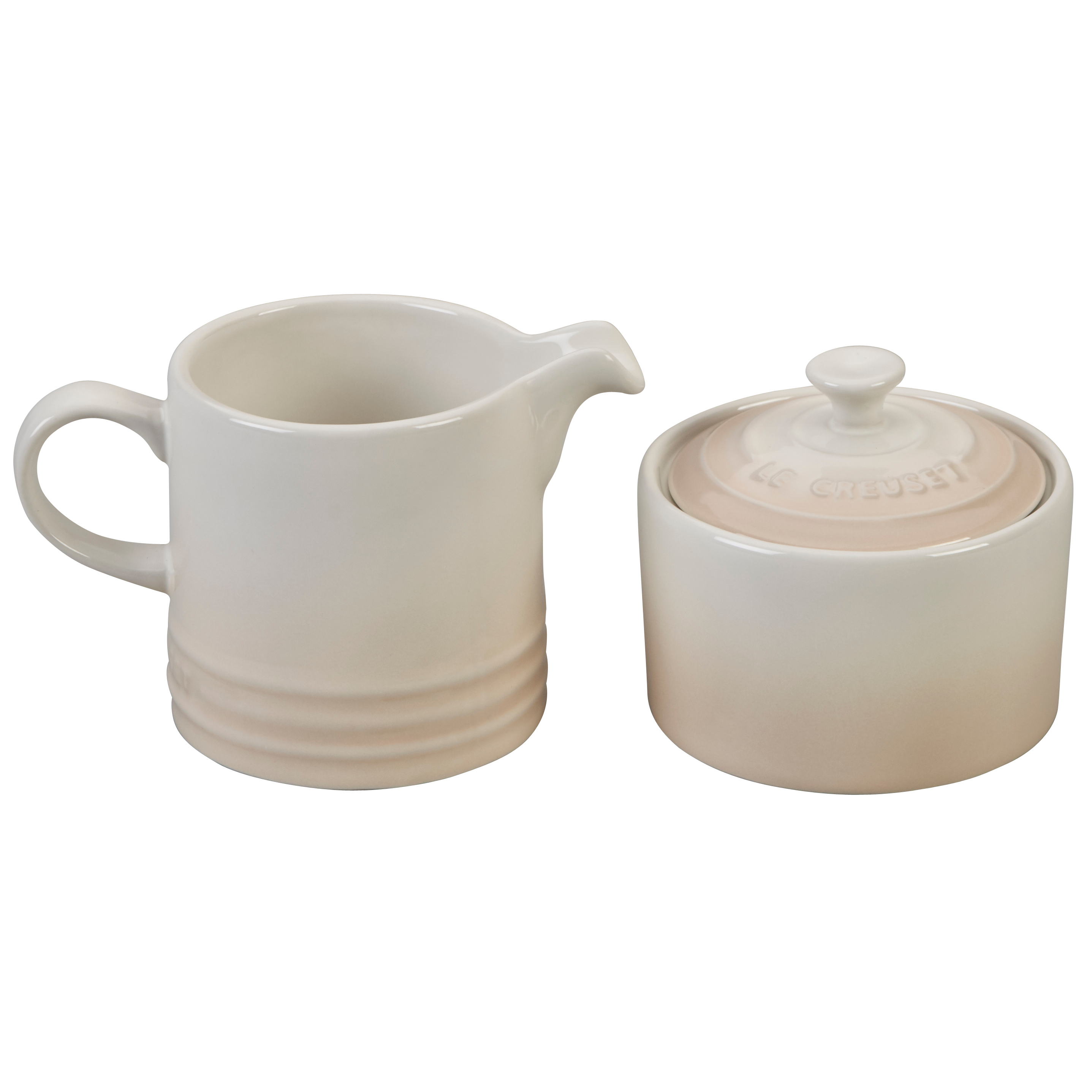 Le Creuset Meringue Stoneware Cream and Sugar Set