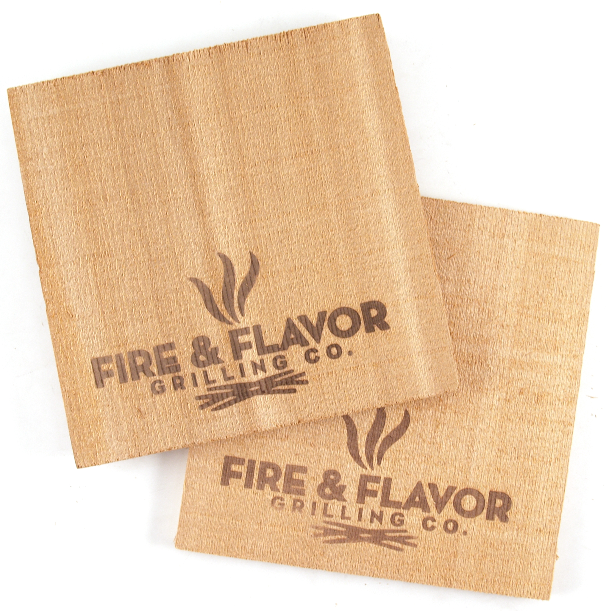 "Fire & Flavor Western Red Cedar 6"" Mini Grilling Plank, Set of 2"