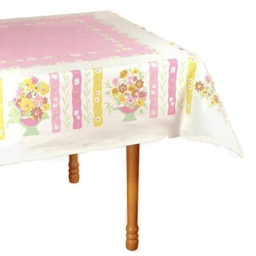 """Floral Bouquet Square Tablecloth, 54"""""""