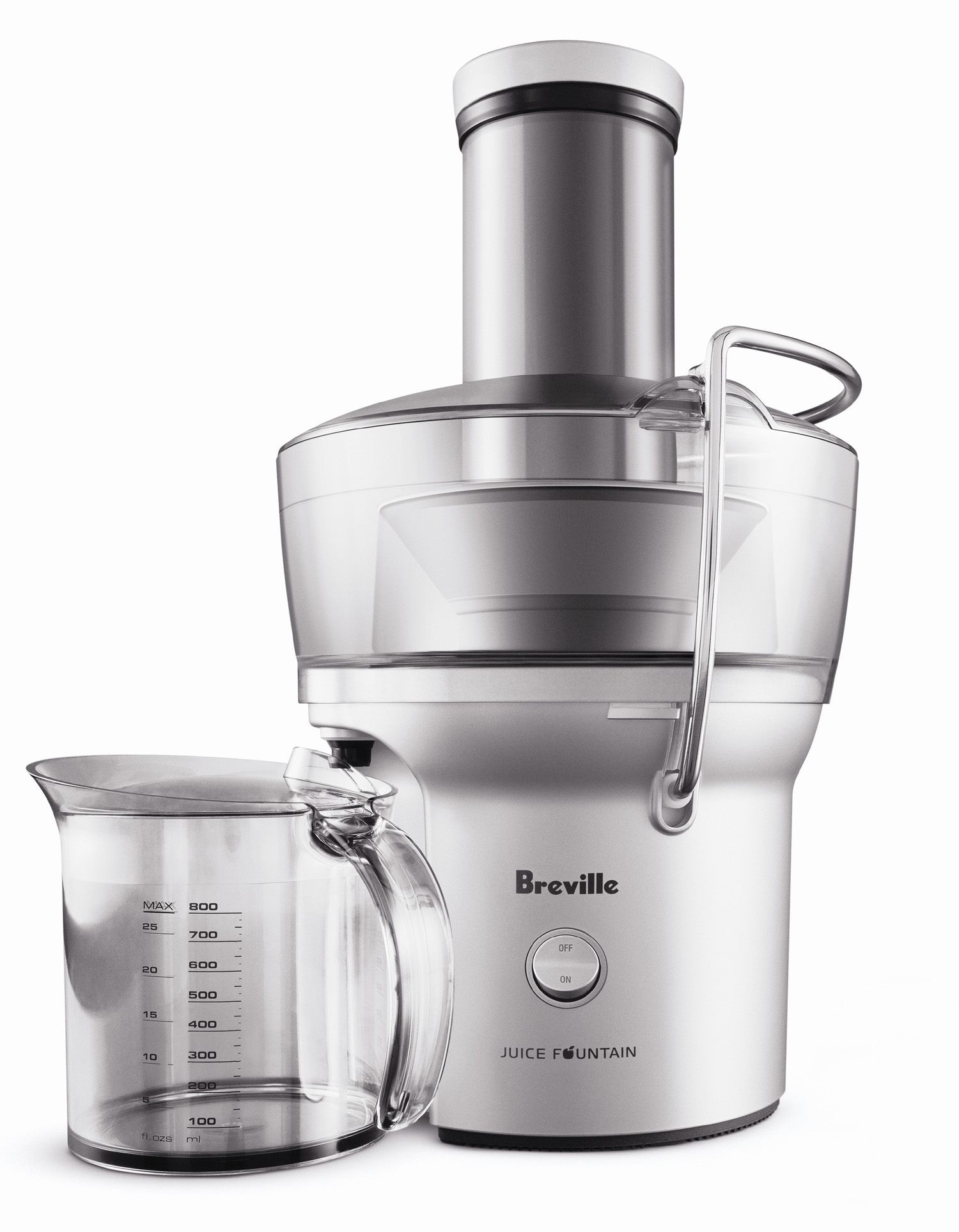 Breville Juice Fountain Compact Electric Juicer with 0.5 Liter Carafe