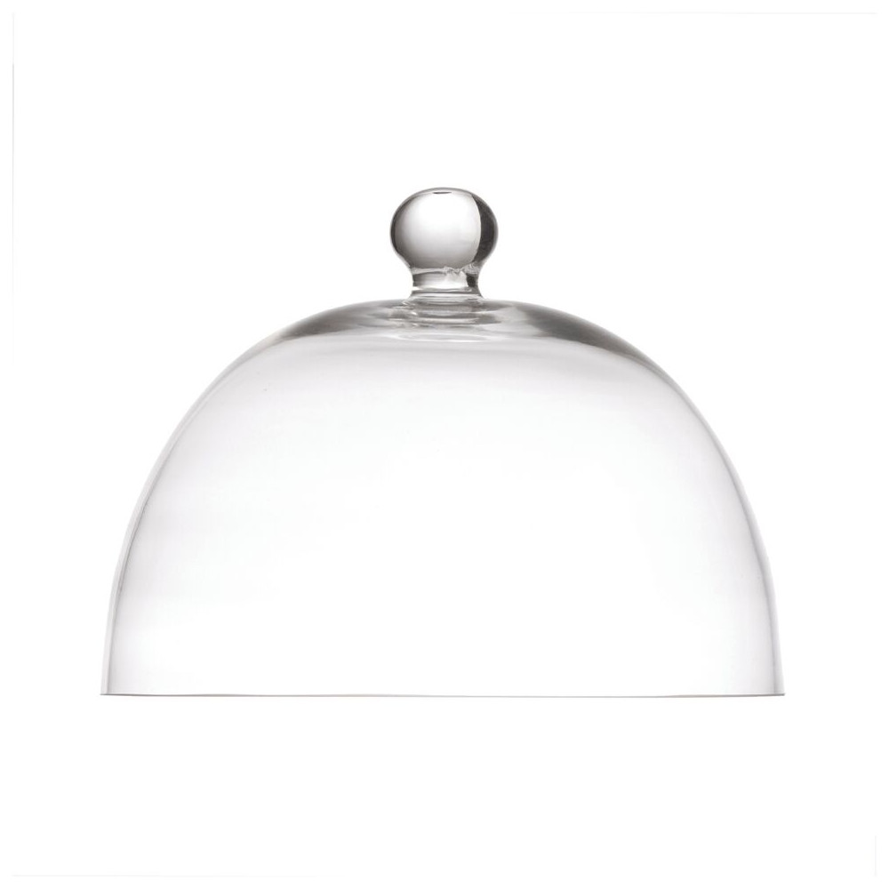 Fortessa La Porcellana Bianca Arezzo 8.25 Inch Glass Dome