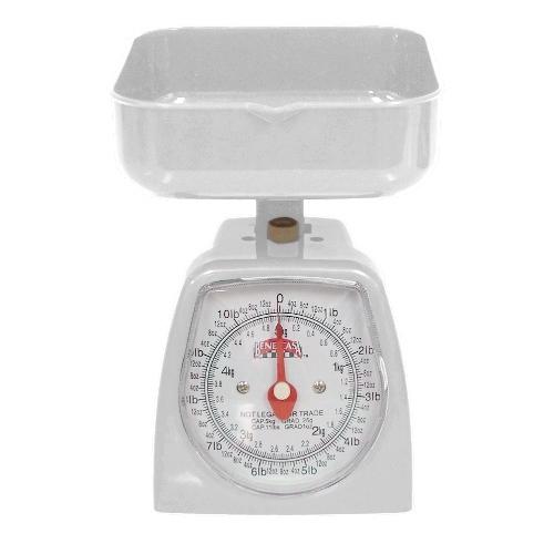 White Kitchen Countertop Scale, 11 Pound Capacity Postal