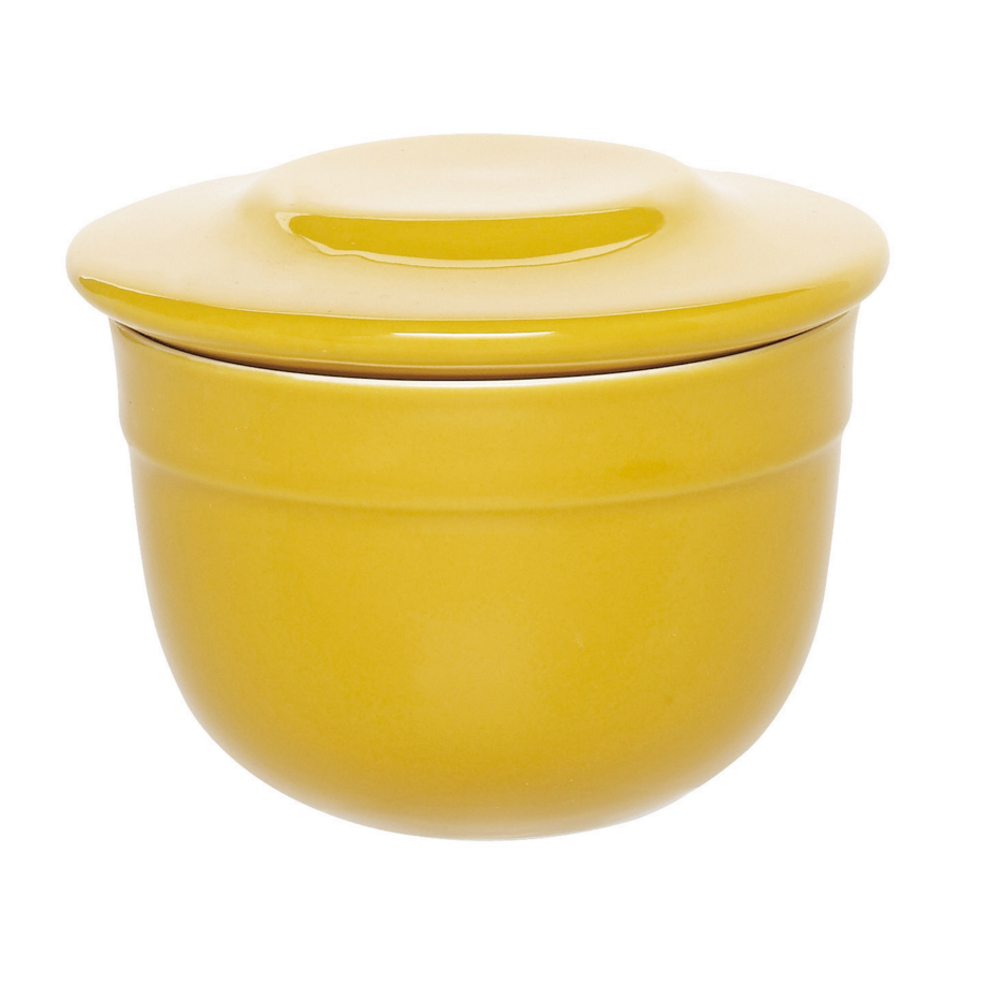 Emile Henry Leaves Ceramic 7 Ounce Butter Pot