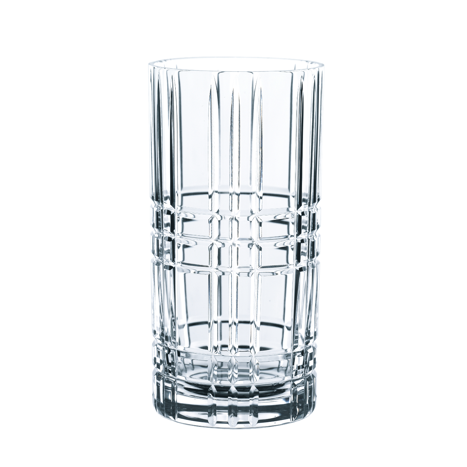 Nachtmann Square Crystal 15.6 Ounce Longdrink Tumbler, Set of 4