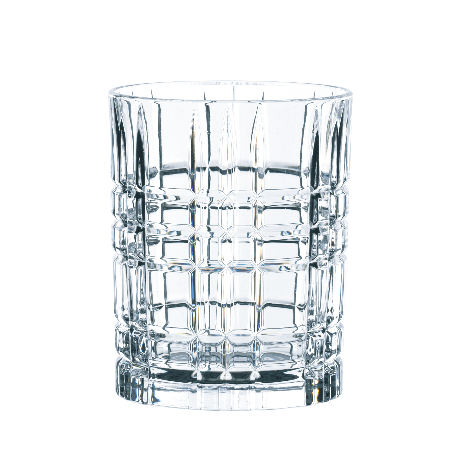 Nachtmann Square Crystal 12.1 Ounce Whiskey Tumbler, Set of 4