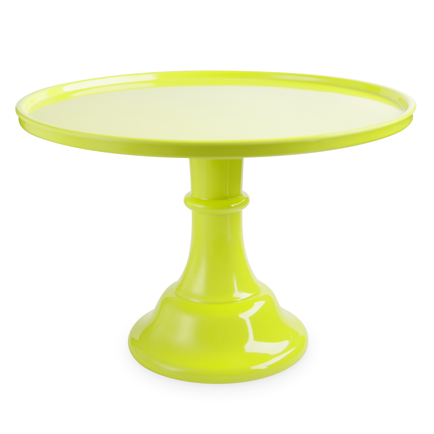 Cakewalk Green Melamine 11.5 Inch Round Single Tier Cake Stand
