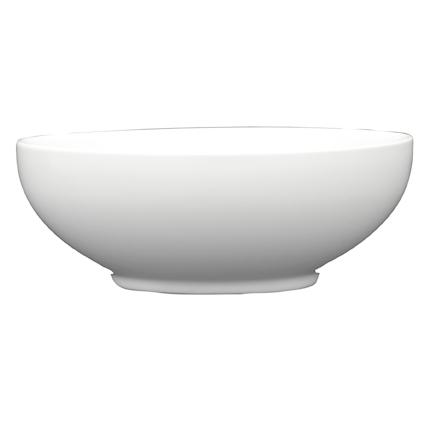 White Gloss Large Oriental Ceramic Serving Bowl