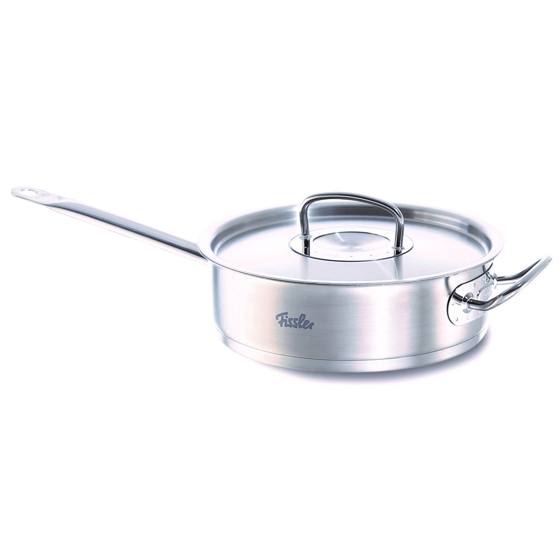 Fissler Stainless Steel 5 Quart Original Profi Saute Pan with Lid, Stick and Handle