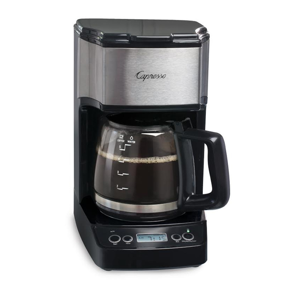 Capresso Black and Stainless Steel 5 Cup Mini Drip Coffee Maker