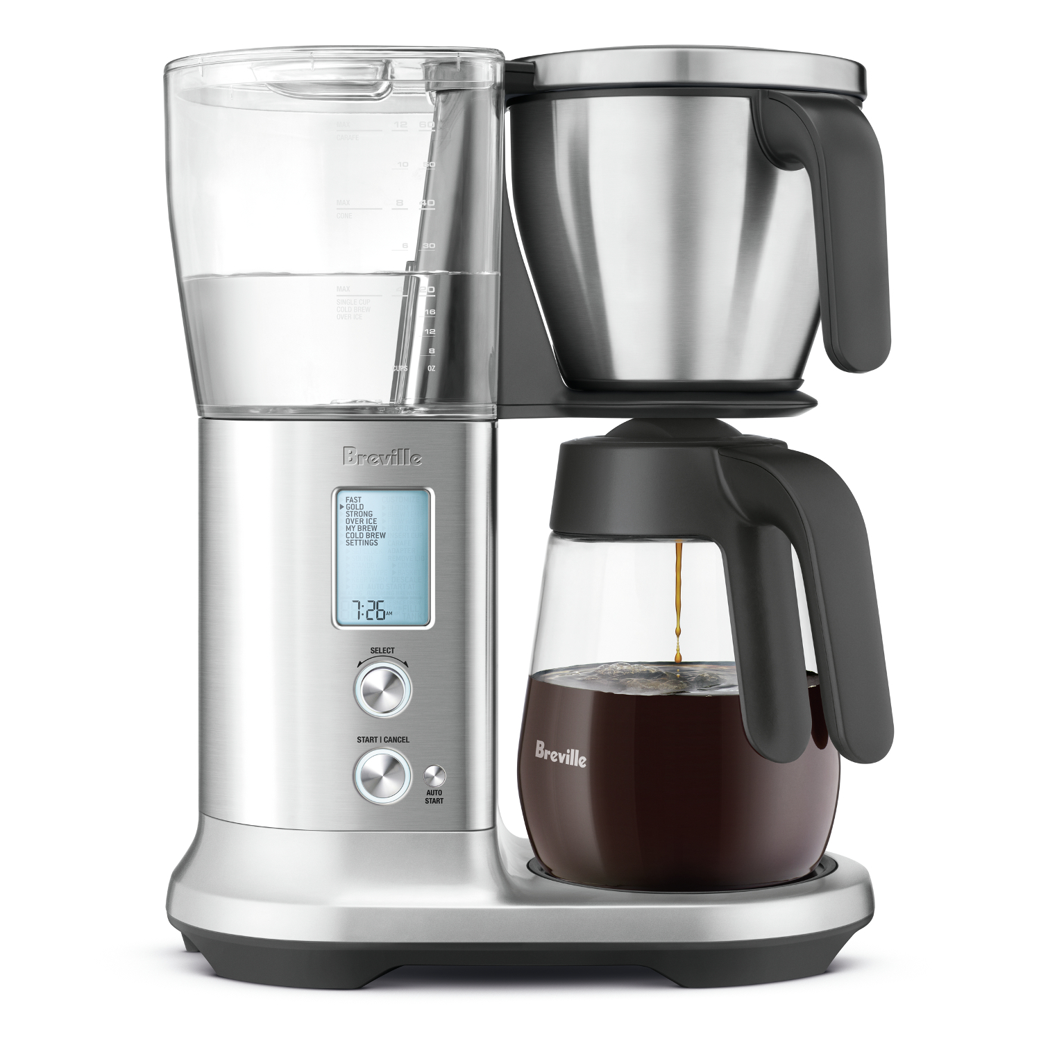 Breville Precision Brewer Glass and Stainless Steel 12 Cup Drip Coffee Maker