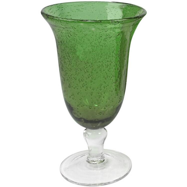 Artland Iris Seeded Green Footed Iced Tea Glass