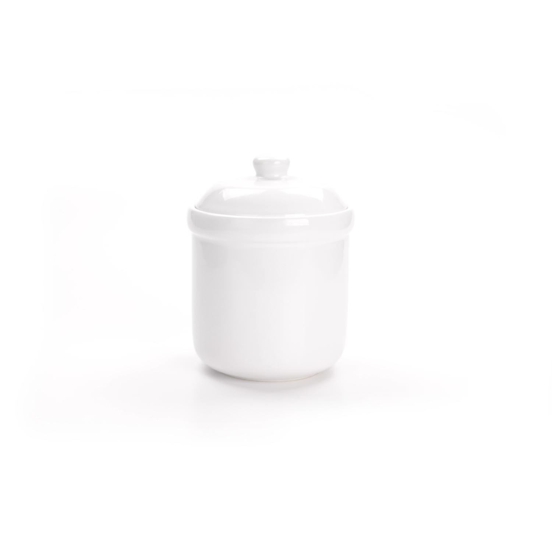 Grant Howard White Ceramic 2.8 Quart (90 Ounce) Dry Good Storage Jar