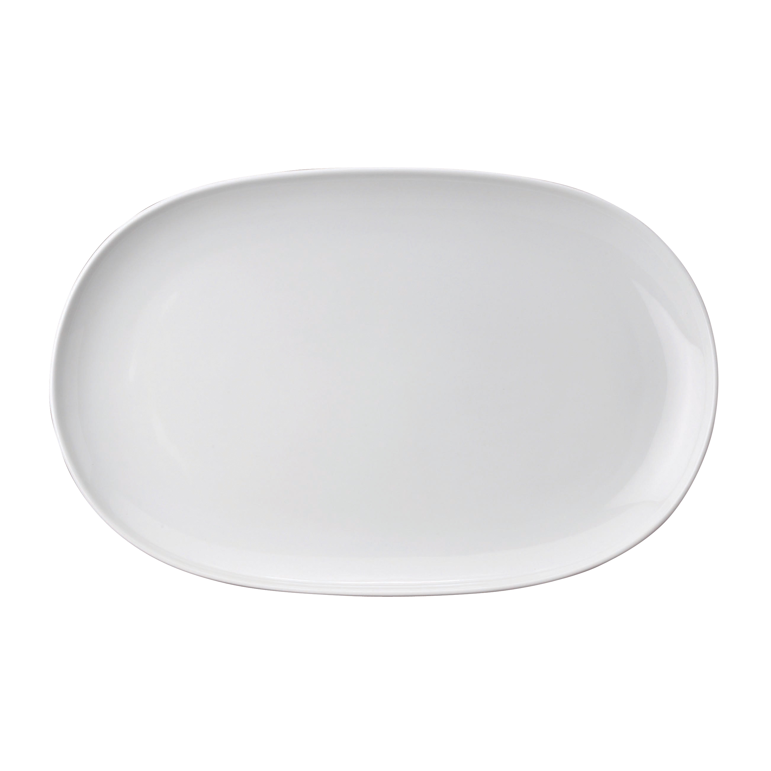 Harold Import Co. White Porcelain 14.25 x 9.25 Inch Oval Platter