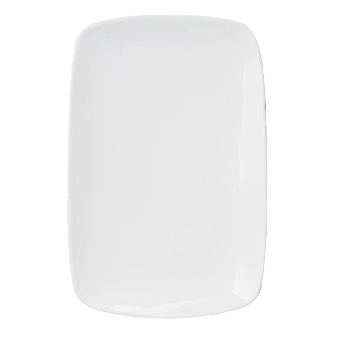 Harold Import Co. White Porcelain 6.25 x 9.75 Inch Rectangular Platter