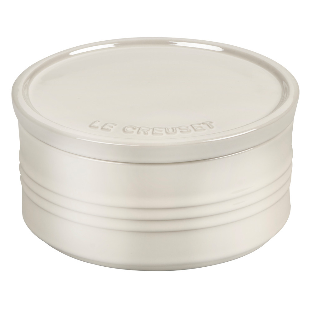 Le Creuset Metallic Meringue Enameled Stoneware 23 Ounce Canister with Lid
