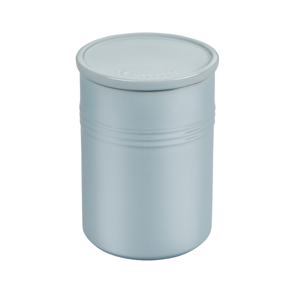 Le Creuset Metallic Coastal Blue Enameled Stoneware 2.5 Quart Canister with Lid