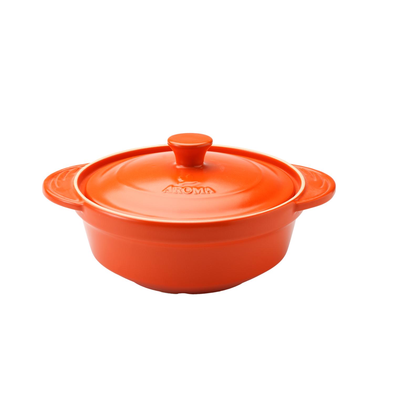 Aroma DoveWare Orange 2.5 Quart Covered Stewpot