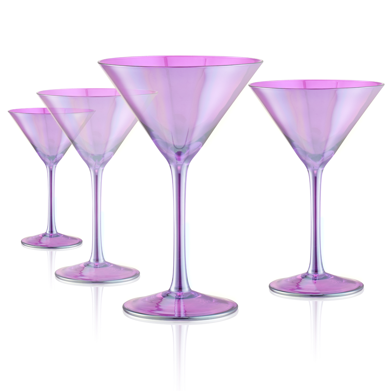 Artland Luster Purple 8 Ounce Martini Glass