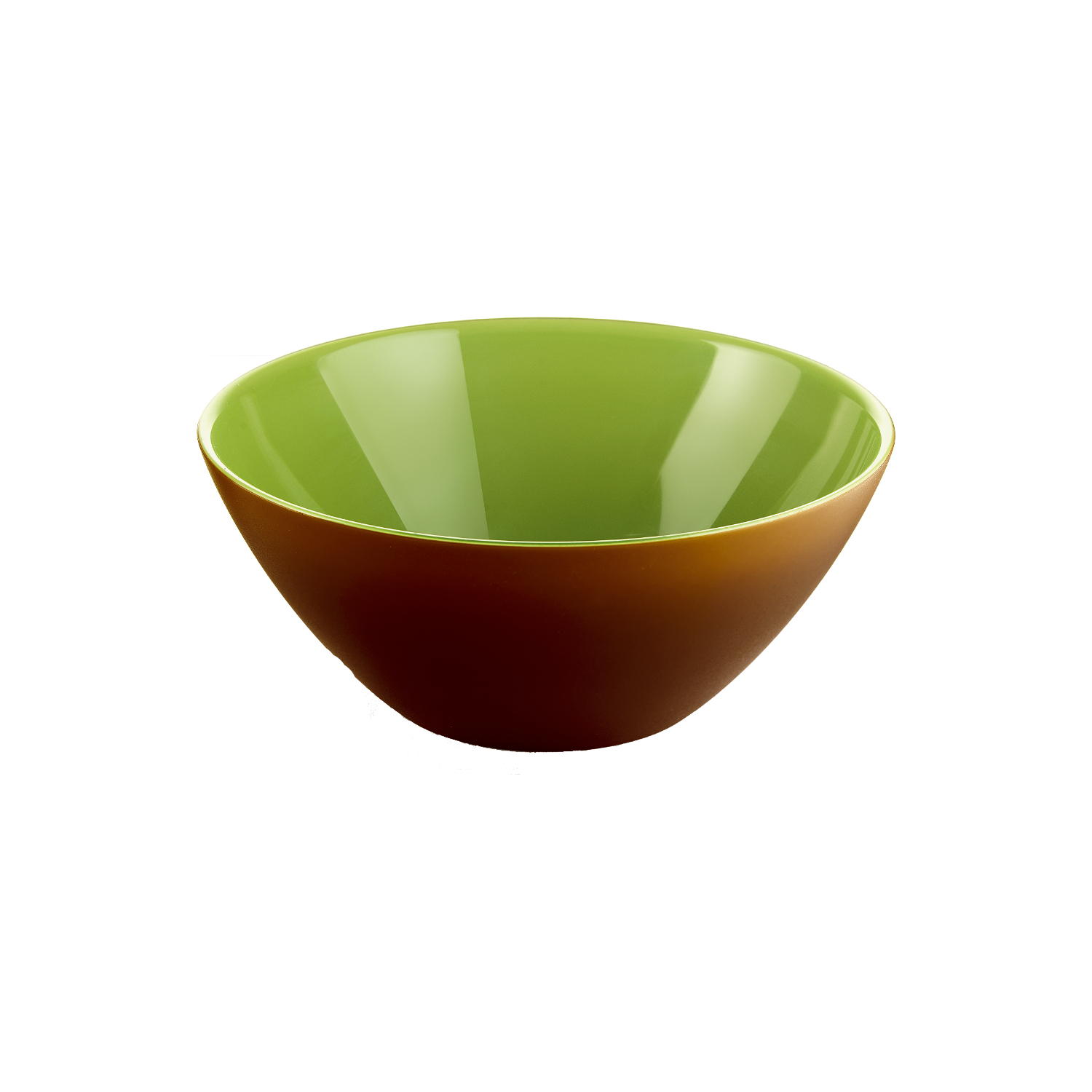 Guzzini My Fusion Kiwi Green and Brown Acrylic 9.8 Inch Bowl