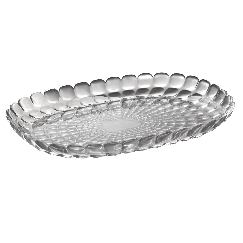 Guzzini Tiffany Grey Acrylic Large Tray