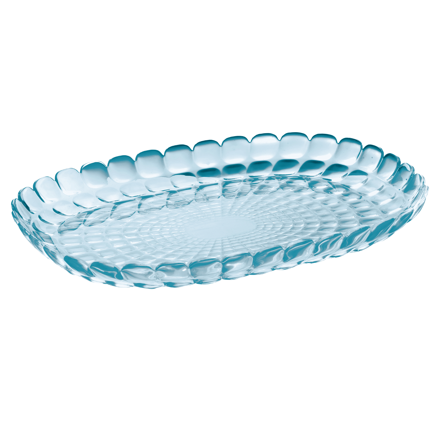 Guzzini Tiffany Sea Blue Acrylic Large Tray