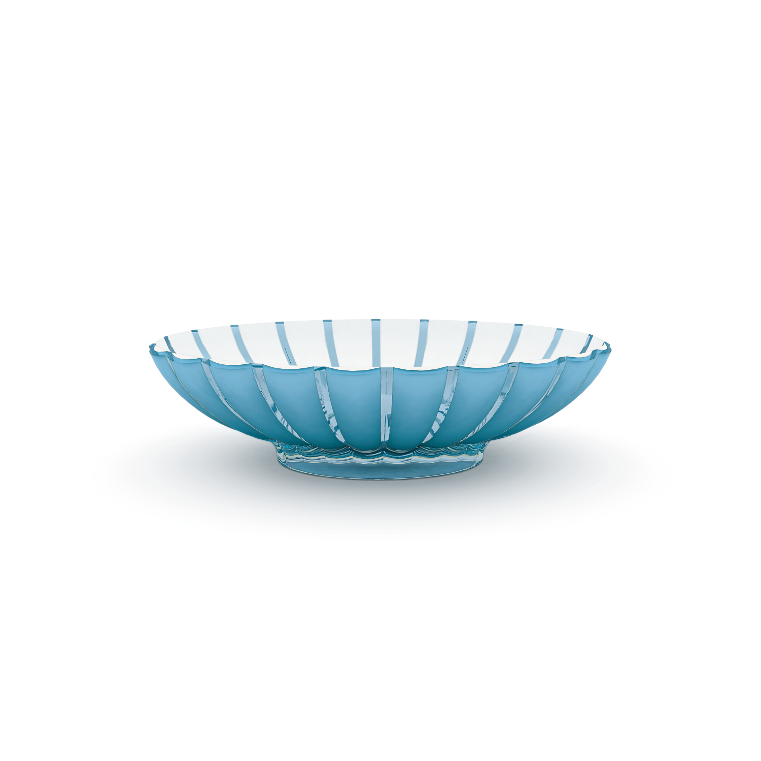 Guzzini Grace Blue Acrylic Oval Centerpiece