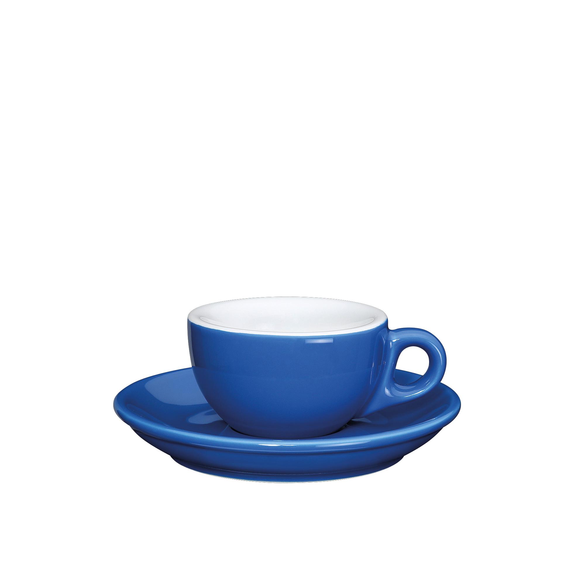 Cilio Roma Dark Blue Porcelain 1.7 Ounce Espresso Cup & Saucer