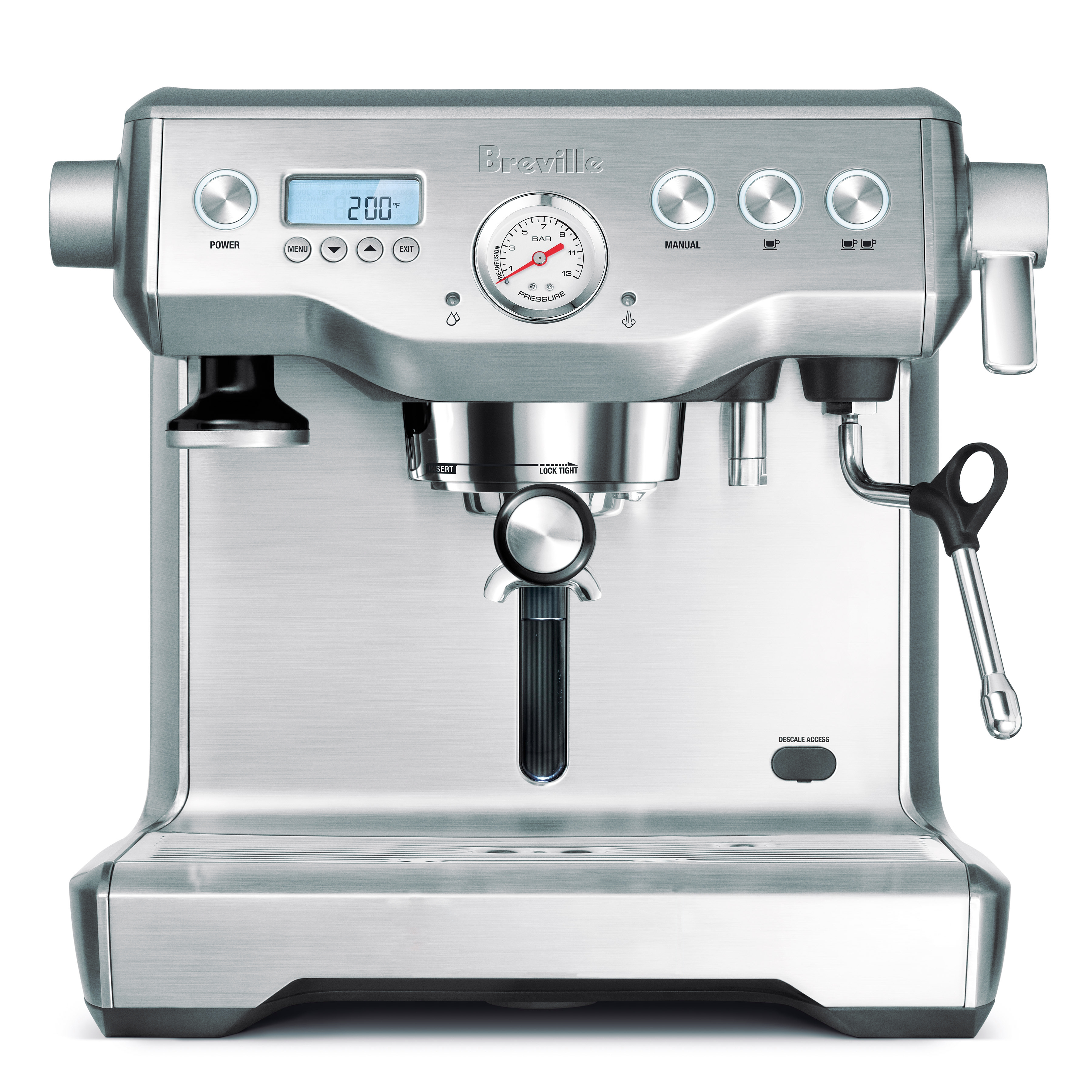 Breville Dual Boiler Stainless Steel Descalable Espresso Machine