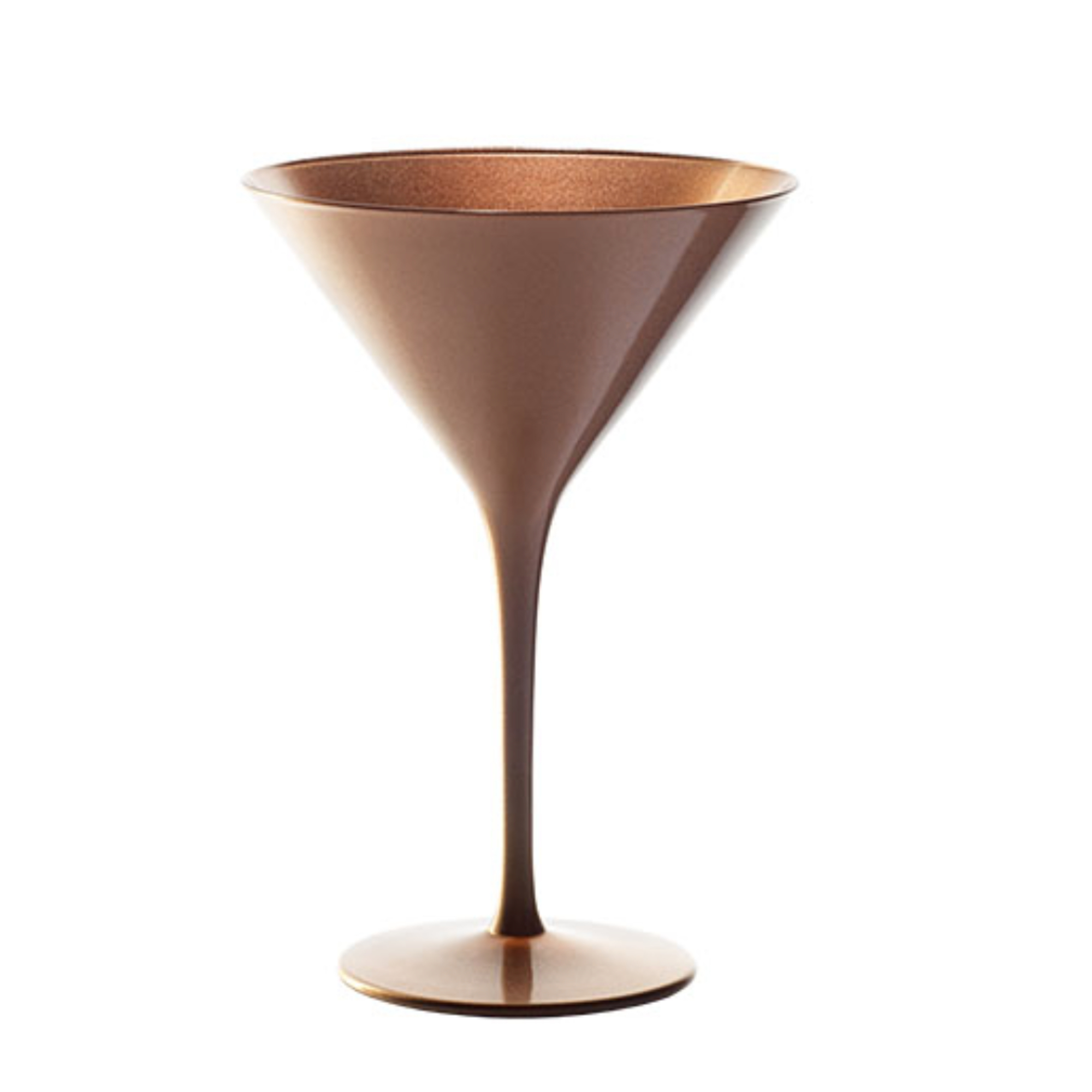 Stolzle Lausitz Bronze German Made Lead Free Crystal Martini Glass, Set of 6