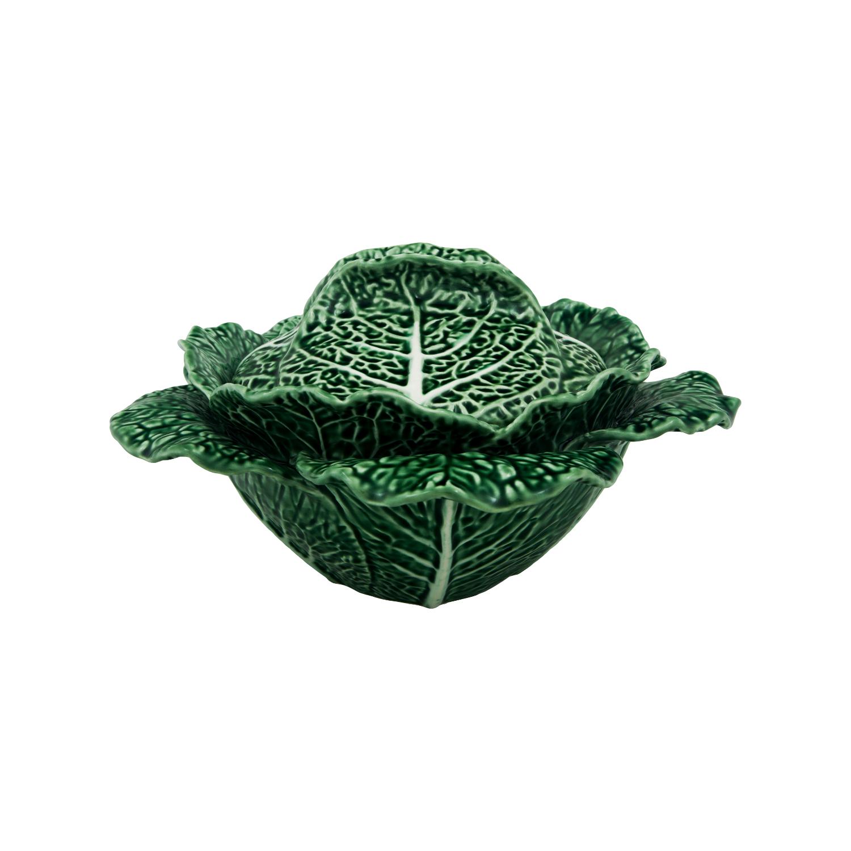 Bordallo Pinheiro Green Cabbage Earthenware 2 Liter Soup Tureen