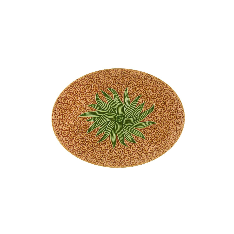 Bordallo Pinheiro Pineapple Earthenware Oval Platter
